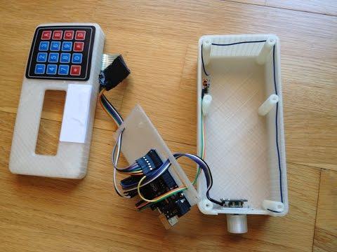 Camiseta Lilypad, transmisor 315 MHz con Arduino UNO, encoder y teclado.