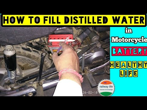 How to fill Distilled Water in Motorcycle Battery for healthy & long life in self start