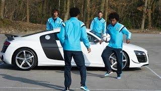 Hazard, Willian, Ake and Remy take on the Audi challenge…