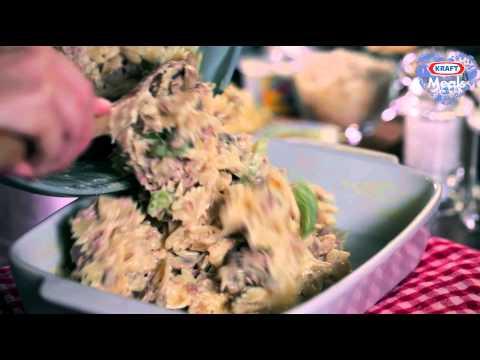 Cheesy Tuna & Mushroom Pasta Bake