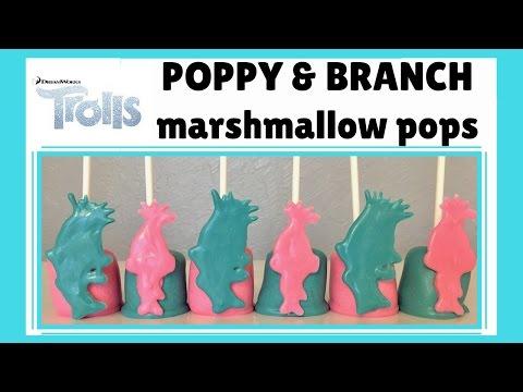 How to Make Trolls (Poppy & Branch) Marshmallow Pops