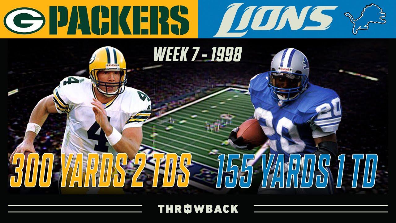 Favre & Barry In Primetime! (Packers vs. Lions 1998, Week 7)