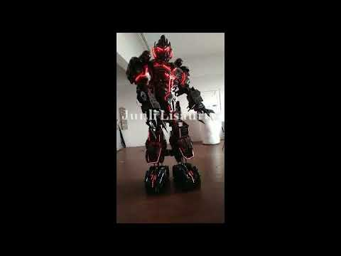 Lisaurus 2.5m full body armor Megatron led ligts suit show for Halloween and Christmas