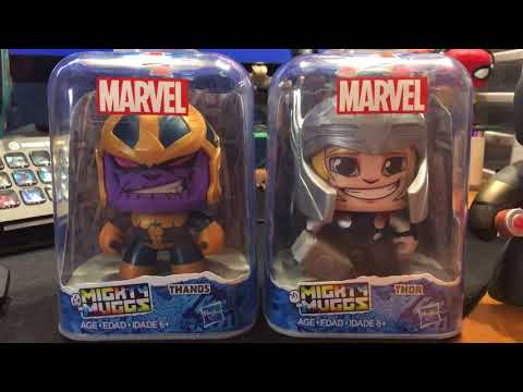 Marvel Mighty Muggs Thor and Thanos Unboxing