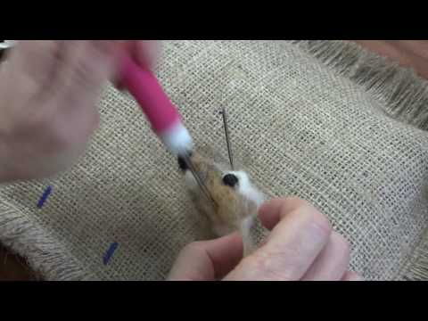 Needle Felted Fawn Part 2: Face, Tail and Pelt