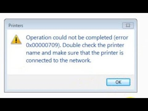 How to fixed Cannot set default printer with Error :0X00000709I Operation could not be completed