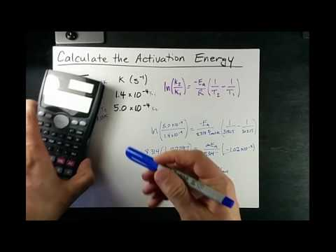 Calculate Activation Energy (Slope OR formula)