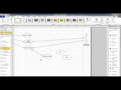 Use case diagram using visio 2010