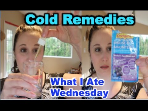 What I Ate: Cold Remedies - Ginger, Oregano Oil, Vitamins! April 18