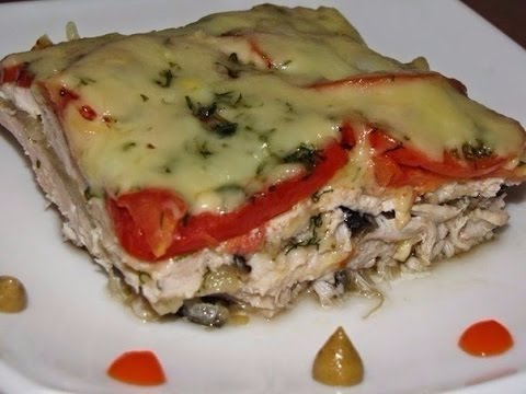 Chicken casserole with eggplant