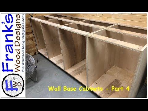 Wall Base Cabinets Part 4   180210