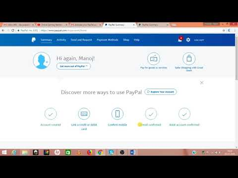 PayPal account verification | How to verify your Bank Account, Email, Mobile attach ATM - Hindi
