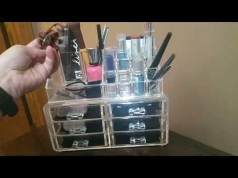 MVPOWER Clear Acrylic Cosmetic Organizer Makeup Storage Box