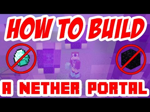 How to make a Nether Portal without Diamonds or Obsidian! Minecraft: ( Xbox PS3  PS4  Wii-U )