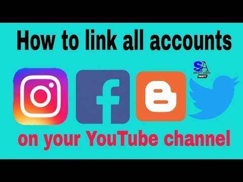 How to Link facebook, Twitter,instagram on your YouTube channel || latest update 2018