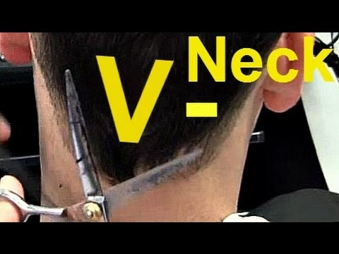 ✄ Barber Tutorials 6 - V-shaped Neck Hairline + Point Cut on Top