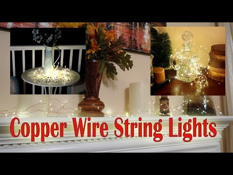 💥COPPER WIRE STRING LIGHTS LightsEtc (Flexible LED Strands) Review COUPON CODE👈