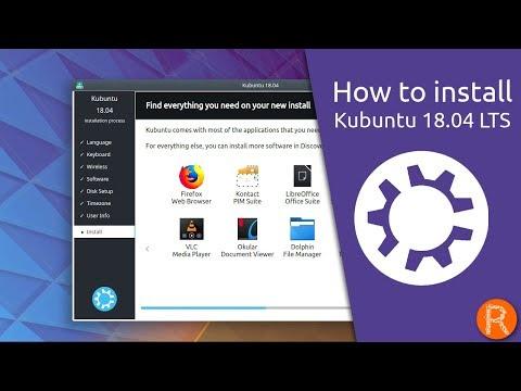 How to install Kubuntu 18.04 LTS