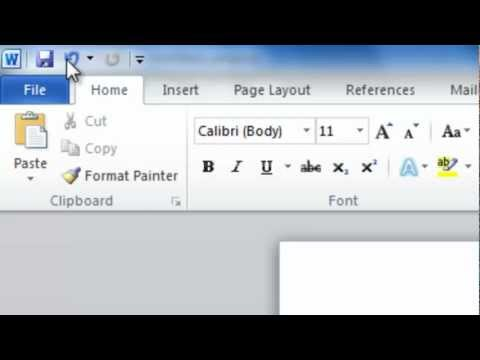 How to Customize the Quick Access Toolbar in Word 2010
