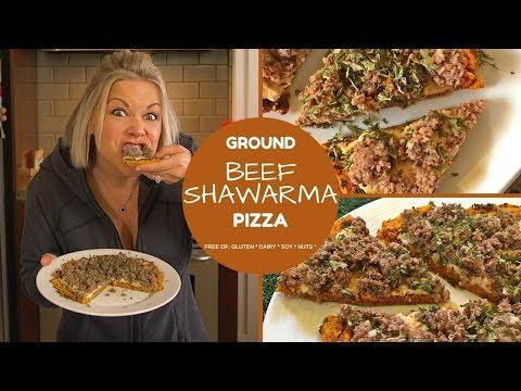 Thor: Ragnarok inspired, Beef Shawarma Pizza Recipe (Gluten, Dairy, Soy & Nut-Free)