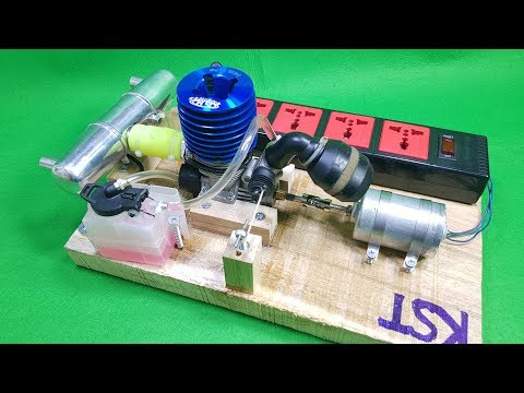 DIY 220v Dynamo Generator Using Nitro 2-stroke Engine