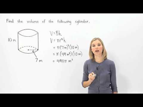 Volume of a Cylinder | MathHelp.com