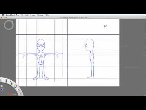 How To Draw Character Model Sheets in Sketchbook Pro