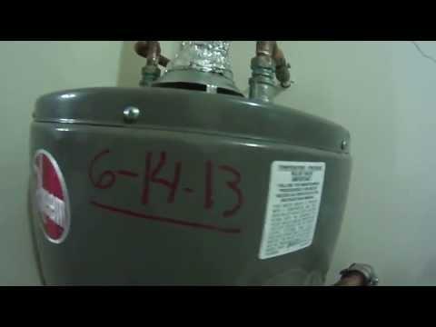 Installing a new RHEEM Gas Water Heater, Big John's Service Co, Part 3, June 14, 2013
