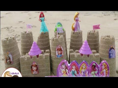 Disney Princess Magiclip Sand Castle Mold Set Beach Sofia the First, Ariel, Rapunzel, Aurora, Tiana