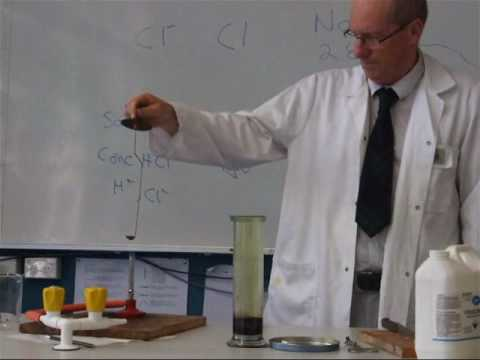 chlorine preparation and reaction with sodium metal.wmv