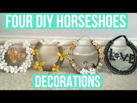 Four DIY Decorative Horseshoes!