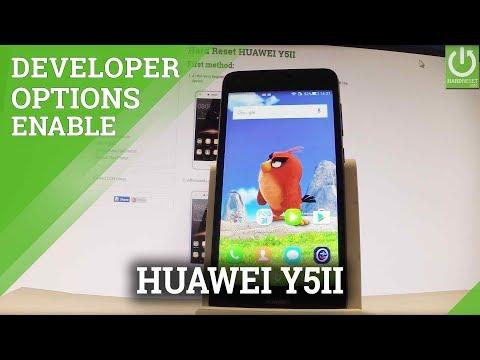 How to Open Developer Options in HUAWEI Y5II - USB Debugging