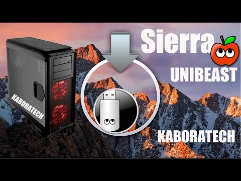 UniBeast Install macOS Sierra on Any Supported Intel based