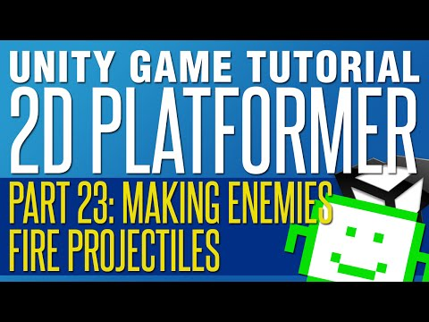 How to Make Your Enemies Fire Projectiles - Unity 2D Platformer Tutorial - Part 23