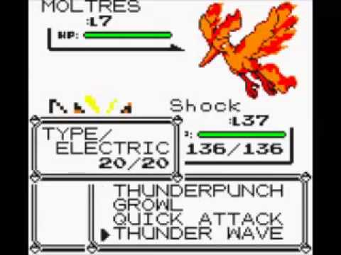 Pokemon Yellow How To Get A Moltres Early No Cheats, Glitch Method #1