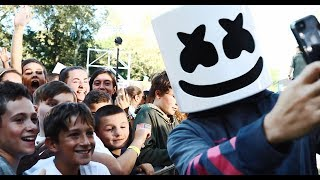 Marshmello Celebrates National Marshmallow Day in NYC w/ Z100 and Good Morning America