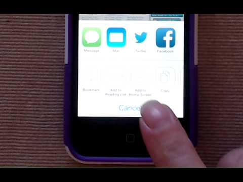 How to Create a Home Page for Safari (iPad/iPhone iOS 7)