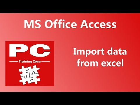 MS Office Access - Import Data from Excel
