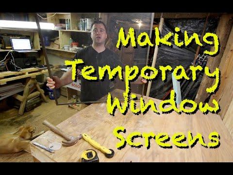 Making Temporary Window Screens