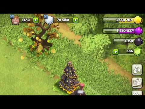 Clash of clans- How to get FREE coins from money tree!!