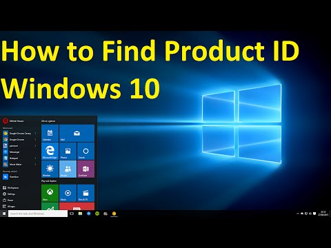 Windows 10, How to Find Product ID