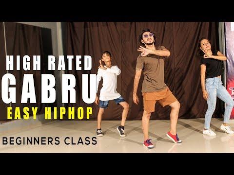 High Rated Gabru Dance Choreography   Easy Hip Hop Beginners Class   Vicky Patel Dance & Tutorial