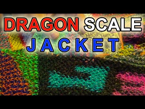 DRAGON SCALE Full Jacket - Rainbow Loom