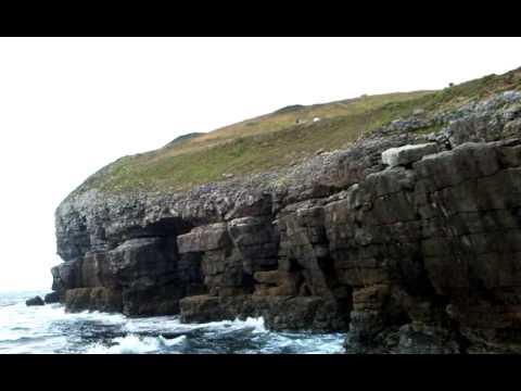 Swanage Island.Awasome view of sea and rocks