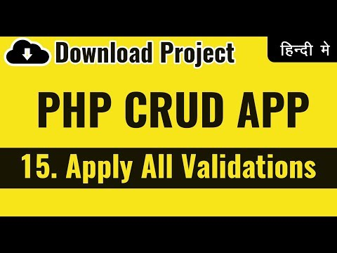 Merge All Validations | PHP Validations & Securities | Learn PHP in Hindi | vishAcademy