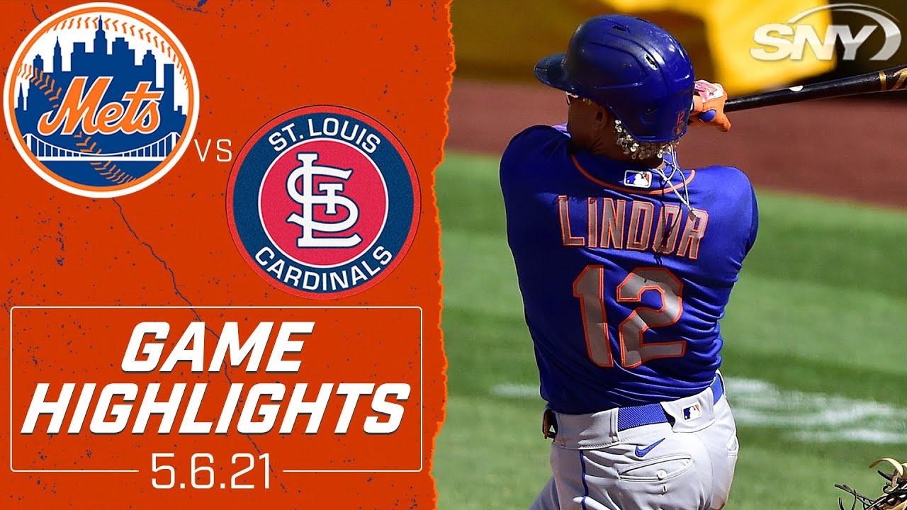 Walker fans 8, Lindor breaks 0-26 streak in Mets 4-1 win | Mets vs Cardinals Highlights | SNY