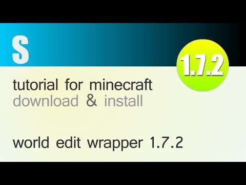 WORLD EDIT WRAPPER MOD 1.7.2 minecraft - how to download and install [world edit in single player]