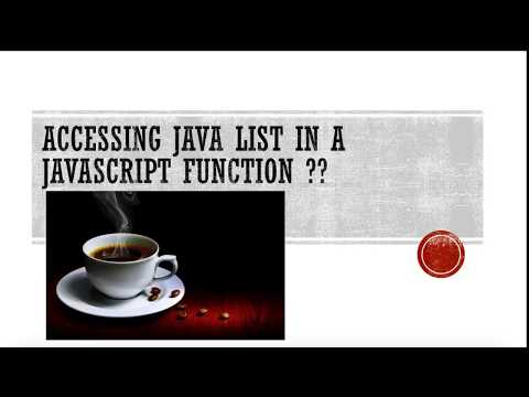 Access Java List Object into a JavaScript Function.