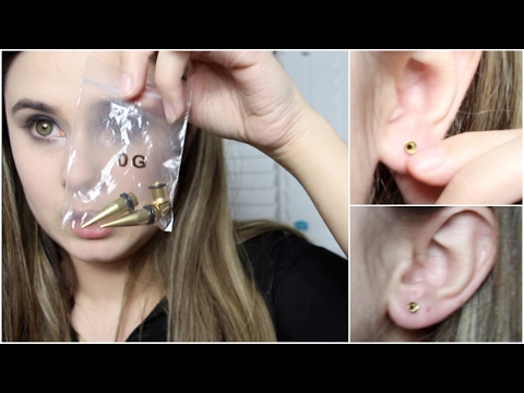 Stretching  My Ears for the First Time | Ear Stretching video 1