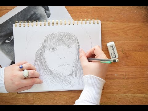 Watercolor Portraits for Beginners ~ Part 1 The Sketch